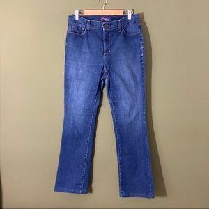 NYDJ NWOT lift tuck technology straight leg denim jeans 12